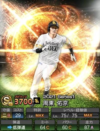 周東 佑京 2021シリーズ1/S極