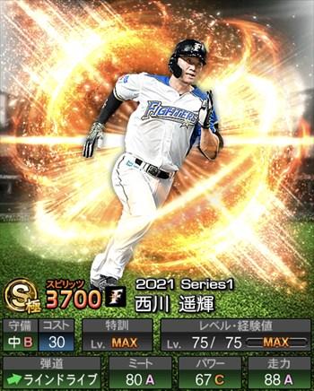 西川 遥輝 2021シリーズ1