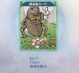 雌盗蟲のカード