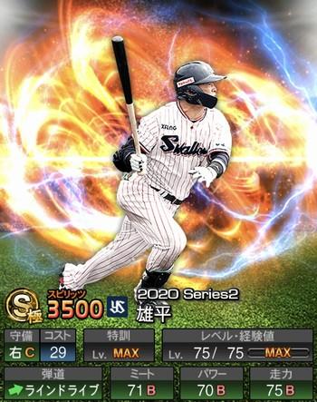 雄平 2020シリーズ2/S極