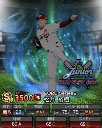 松井 裕樹 ジュニアトーナメント/2020シリーズ2